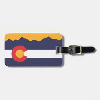 Colorado Flag & Mountains Luggage Luggage Tag
