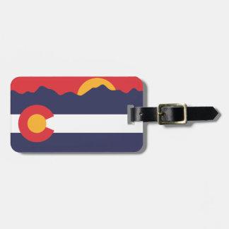 Colorado Flag Mountains Luggage Tag