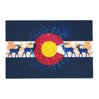 Colorado flag nature art scenery placemat