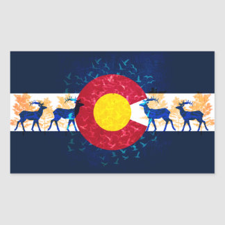 Colorado flag nature art scenery stickers