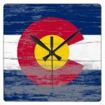 Colorado Flag Old Paint Clock
