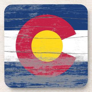 Colorado Flag Old Paint Coaster