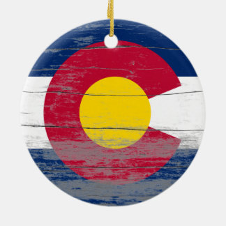 Colorado Flag Old Paint Ornament