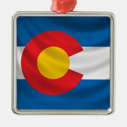 Colorado Flag Christmas Ornaments