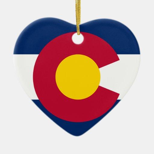 Colorado Flag Christmas Tree Ornament