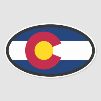 Colorado Flag Oval Oval Sticker