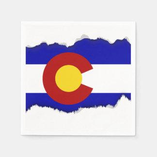 Colorado flag paper napkin