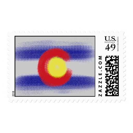 Colorado flag pastel stamp
