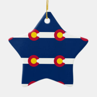 Colorado Flag Pattern Ceramic Ornament