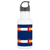 Colorado Flag Pattern Stainless Steel Water Bottle