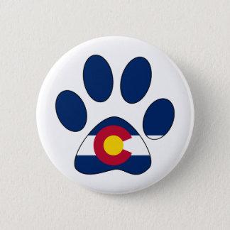 Colorado flag paw print button