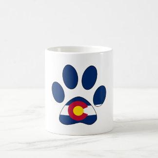 Colorado flag paw print coffee mug