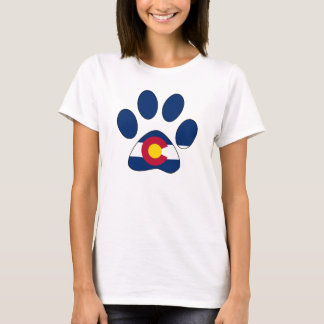 Colorado flag paw print womens shirt