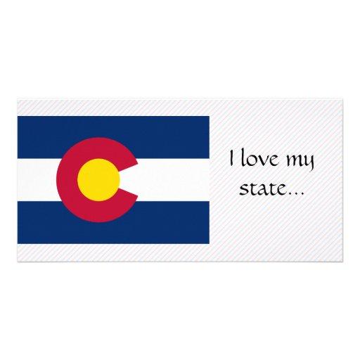 Colorado Flag Custom Photo Card