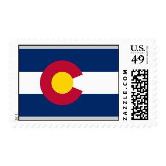 Colorado Flag Postage Stamp