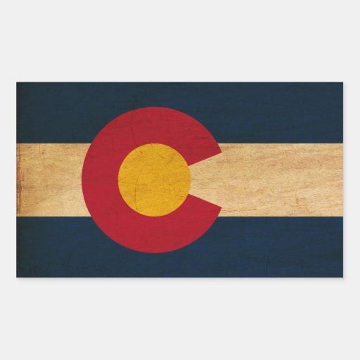 Colorado Flag Rectangular Sticker