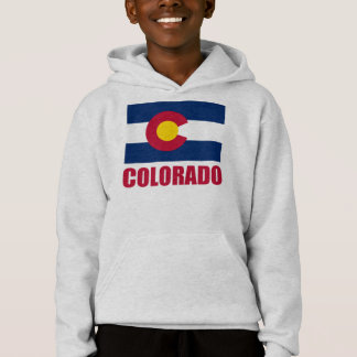 Colorado Flag Red Text Hoodie