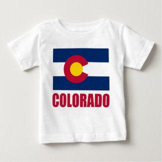 Colorado Flag Red Text Tee Shirt