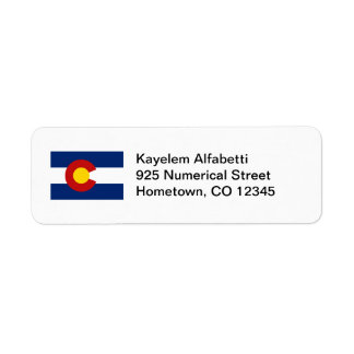 Colorado Flag Return Address Label