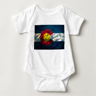 Colorado flag Rock Mountains Baby Bodysuit