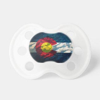 Colorado flag Rock Mountains BooginHead Pacifier