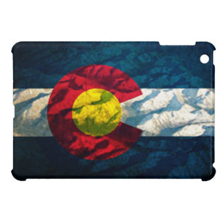 Colorado flag Rock Mountains Case For The iPad Mini