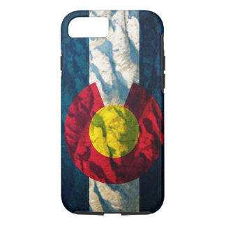 Colorado flag Rock Mountains iPhone 7 Case