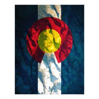 Colorado flag Rock Mountains Customized Letterhead