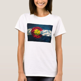 Colorado flag Rock Mountains T-Shirt