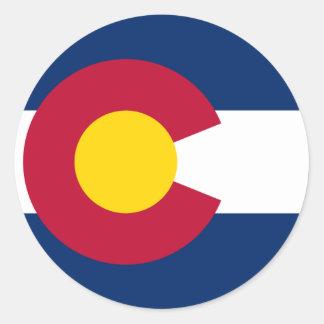 Colorado Flag Round Stickers