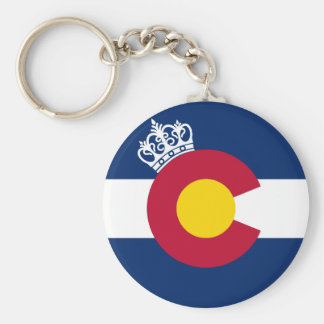 Colorado flag royal crown keychain