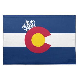 Colorado flag royal crown placemat