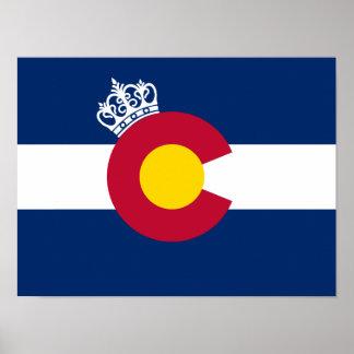 Colorado flag royal crown poster
