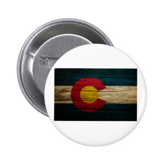 Colorado Flag Rustic Old Wood Buttons