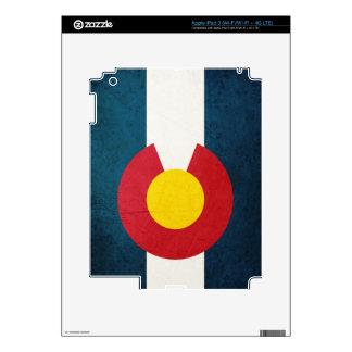 Colorado Flag Rustic Skin For iPad 3