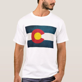 Colorado Flag Rustic T-Shirt