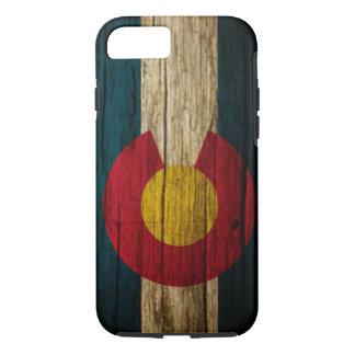 Colorado Flag rustic wood iPhone 7 Case