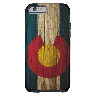 Colorado Flag rustic wood iPhone 6 Case