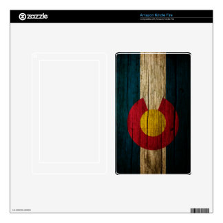 Colorado Flag rustic wood Kindle Fire Decals