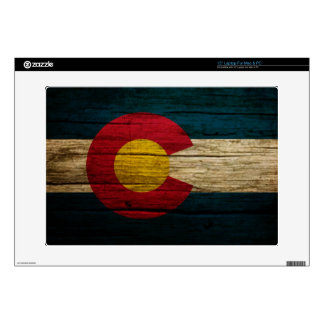 Colorado Flag rustic wood Skins For Laptops