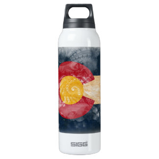 Colorado Flag 16 Oz Insulated SIGG Thermos Water Bottle