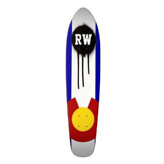Colorado flag skateboard deck