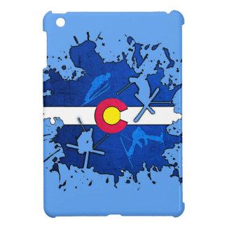 Colorado flag ski splatter ipad mini case