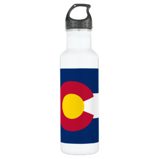 Colorado Flag Stainless Steel Water Bottle