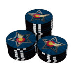 Colorado Flag Star with Rays of Light Poker Chip Set