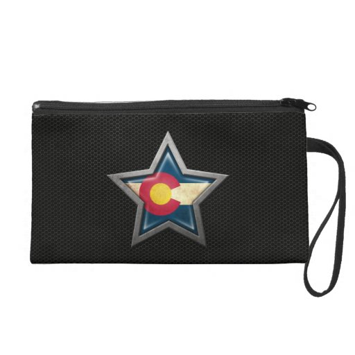 Colorado Flag Star with Steel Mesh Effect Wristlets