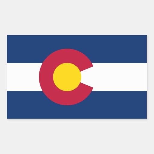 Colorado Flag Rectangle Stickers