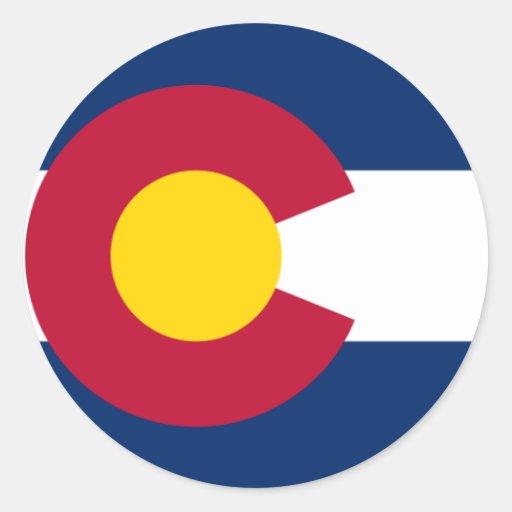 Colorado Flag Round Sticker