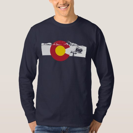 Colorado Flag T-Shirt - Chairlift - Snowboard