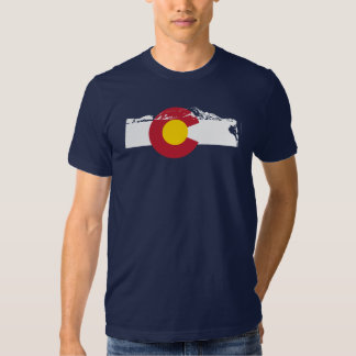 Colorado Flag T-Shirt - Rock Climb - Rockies